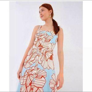 Farm Rio Anthropologie Graphic Floral Print Dress